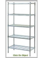 3 Tiers, Wire Grid Post Style, 300mm depth shelves, 1200H