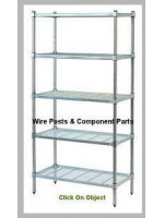 Wire Grid Shelving-Posts & Component Parts