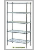 Wire Grid-Post Shelving